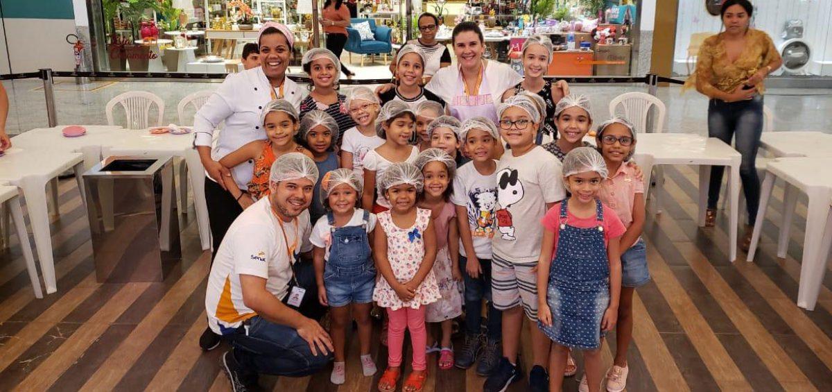 Senac realiza oficinas de culinária no Vitória Park Shopping