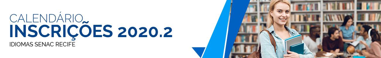 Banner calendário inscrições 2020.2